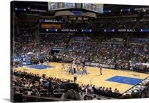 The arena during the Oklahoma City Thunder game against the Orlando Magic