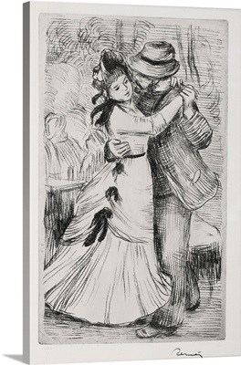 The Dance In The Country By Pierre-Auguste Renoir