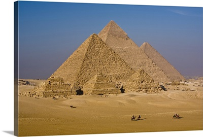 The Great Pyramids of Giza, Egypt.