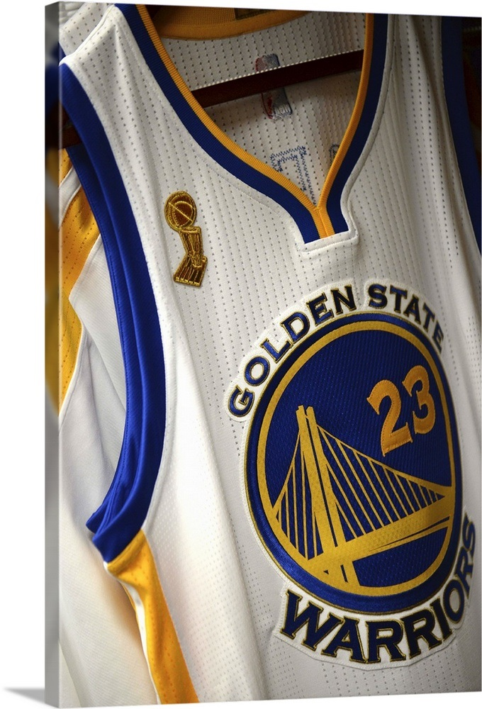796506f7bed The jersey of Draymond Green of the Golden State Warriors Wall Art ...