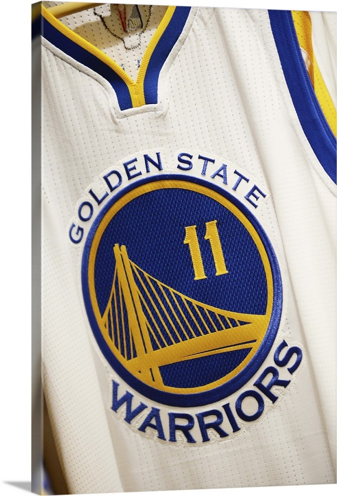 huge selection of f1909 d13cb The jersey of Klay Thompson of the Golden State Warriors