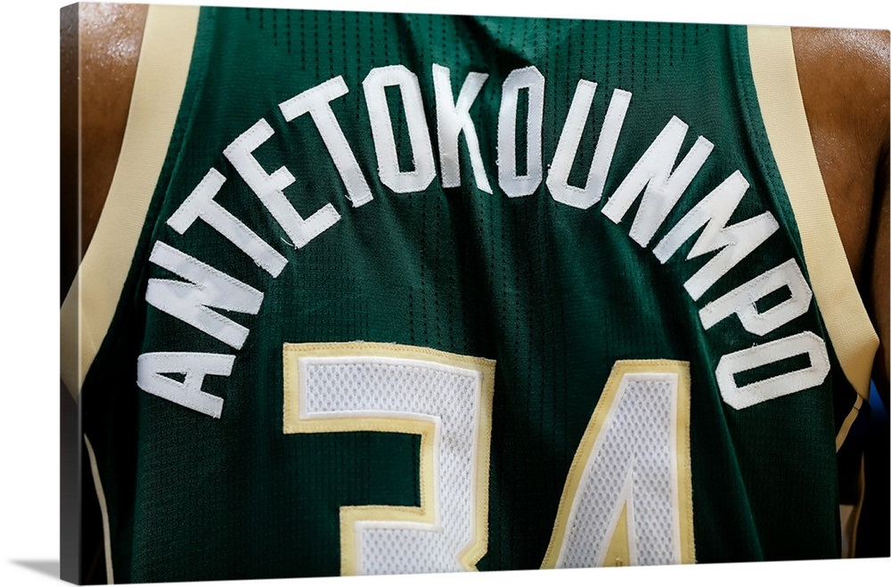 official photos cc16b 4ba17 The jersey worn by Giannis Antetokounmpo 34 of the Milwaukee Bucks
