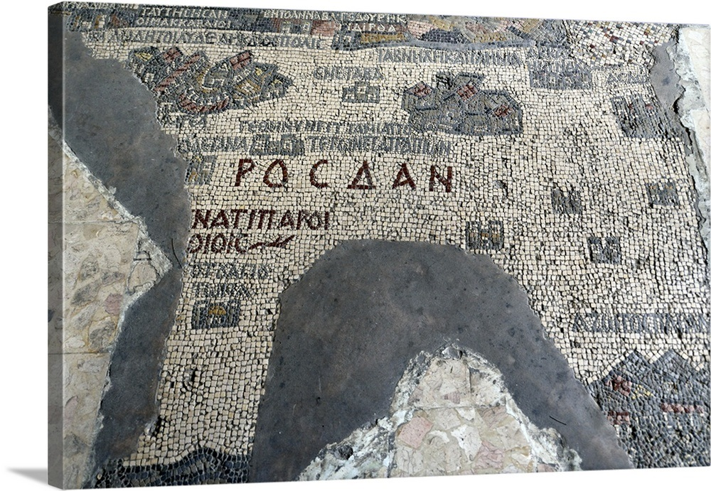 The Madaba Map, St. George church, Madaba, Jordan on vienna genesis, macedonian renaissance, late antique and medieval mosaics in italy, joshua roll,