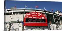 The Marquee at Wrigley Field in Chicago, Illinois, home of the Cubs