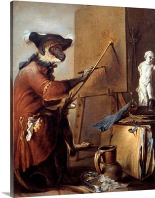 The Monkey Painter by Jean Baptiste Simeon Chardin