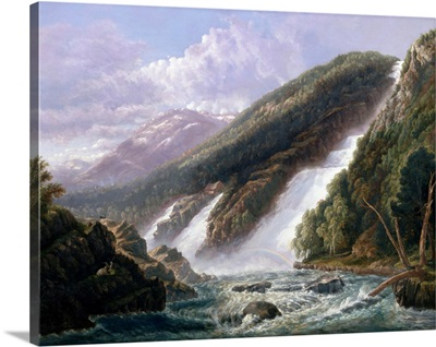 The Russell Falls, Tasmania By John Haughton Forrest