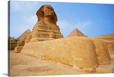 The Sphinx at the Giza pyramid of Chephren, Egypt