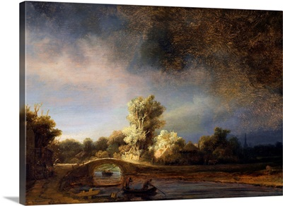 The Stone Bridge By Rembrandt Harmensz Van Rijn