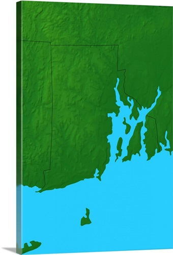 Topographic Map Rhode Island.Topographic Map Of Rhode Island Wall Art Canvas Prints Framed