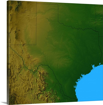 Topographic map of Texas