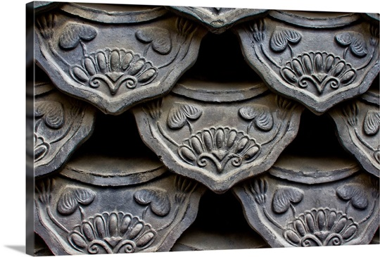 Traditional Style Korean Roof Tiles In Insadong Seoul