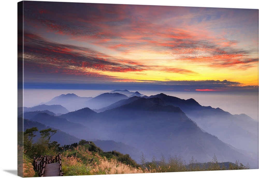 Twilight Scenery At Sidingshan Chiayi Taiwan Wall Art
