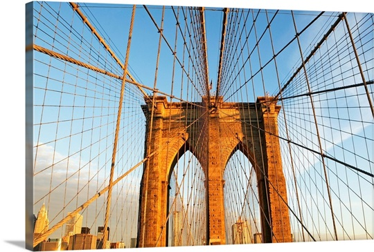 USA, New York State, New York City, Span of Brooklyn Bridge