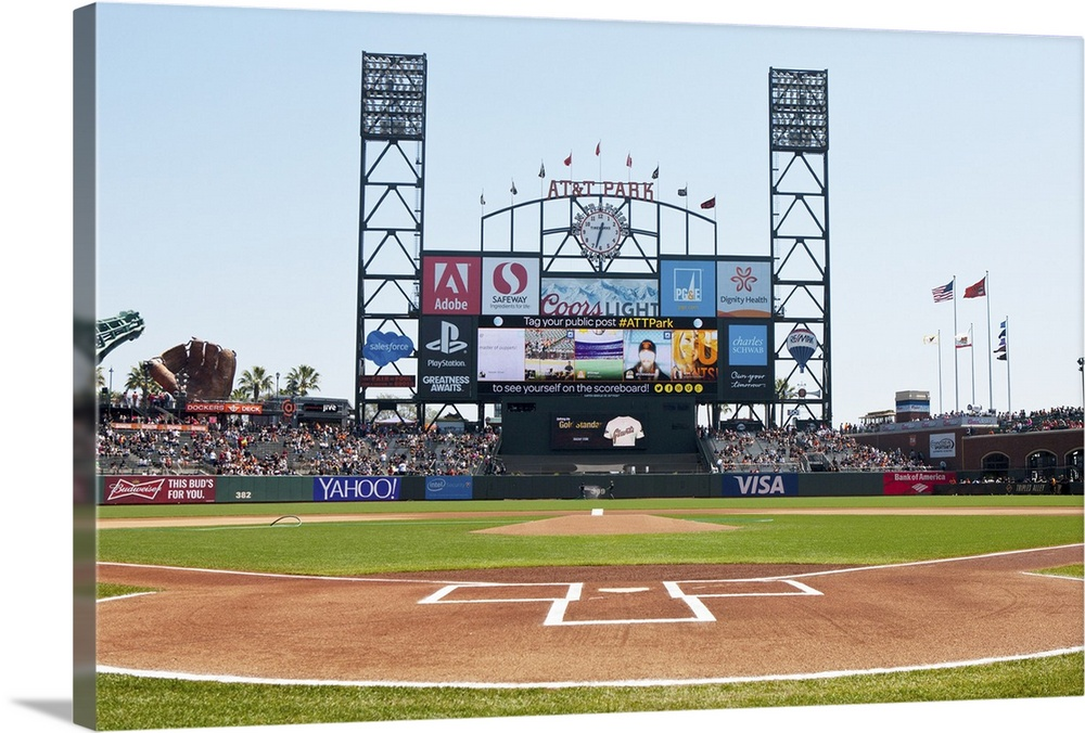 View Behind Home Plate At Att Park On