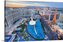 View of city, Las Vegas, Nevada, USA.