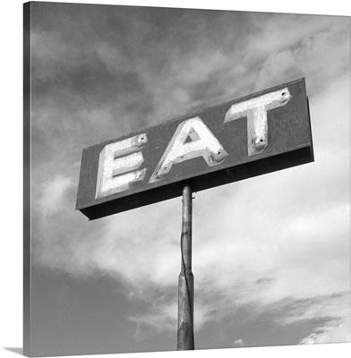 Vintage Eat Restaurant Sign