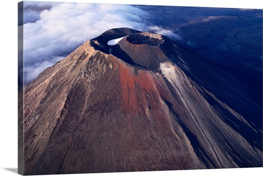 volcano tongariro national park new zealand photo canvas