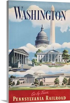 Washington, Go By Train Poster
