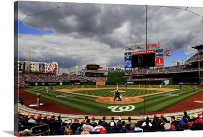 Washington Nationals' opening day game at Nationals Park on April 12, 2012