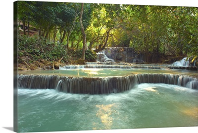 Waterfalls in Luang Prabang, Laos