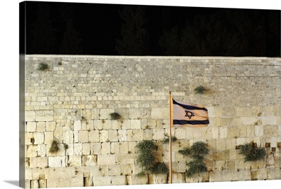 Western Wall, Israel flag, Jerusalem, Israel