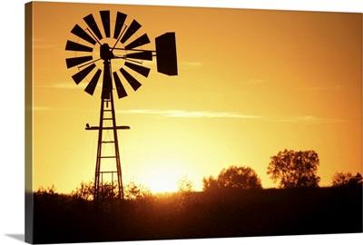 Windmill in silhouette
