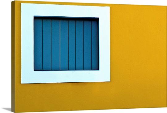 Window on yellow wall. Wall Art, Canvas Prints, Framed Prints, Wall ...