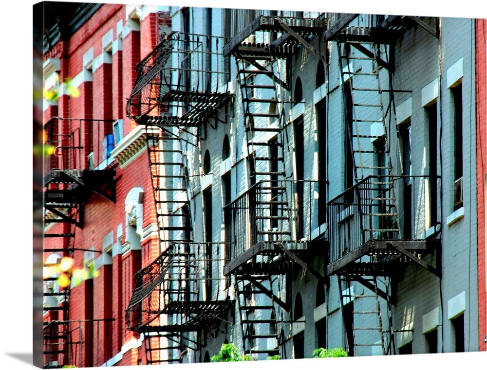 Windows and emergency stairs in New York City. Wall Art ...