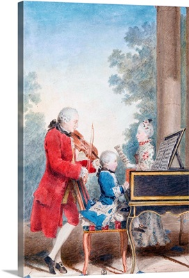 Wolfgang Amadeus Mozart In Paris As A Child By Carmontelle