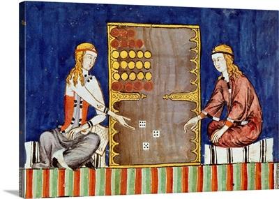 Women playing backgammon, 1283