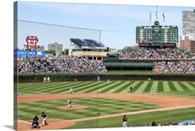 Wrigley Field during a Cubs game in Chicago, Illinois, 2014