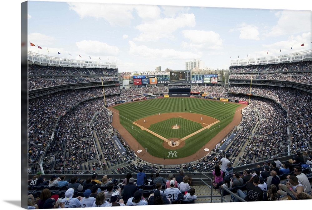 Madison Square Garden: Yankee Stadium During A Game In New York City Wall Art