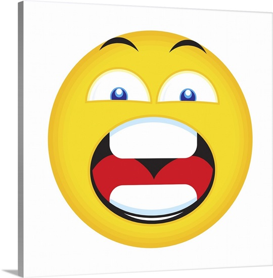 Emoji Wall Art yelling emoji wall art, canvas prints, framed prints, wall peels