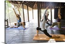 Yoga class at Ashyiana Yoga Retreat.