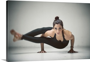 yoga side crow photo canvas print  great big canvas