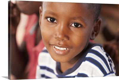 Young boy in Haiti