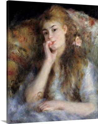 Young Woman Seated or The Thought by Pierre Auguste Renoir