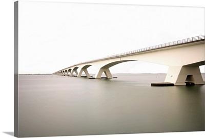 Zeeland Bridge, the longest bridge in Netherlands.