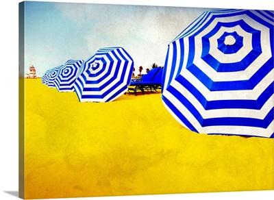 Beach Umbrellas Blue