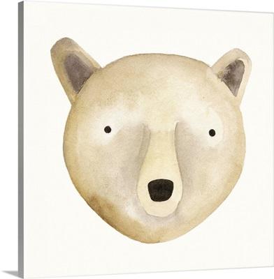 Bear Watercolor Face