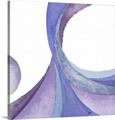 Blue Violet Geometric I