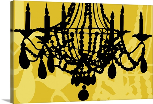 Chandelier VI Yellow Wall Art, Canvas Prints, Framed Prints, Wall ...