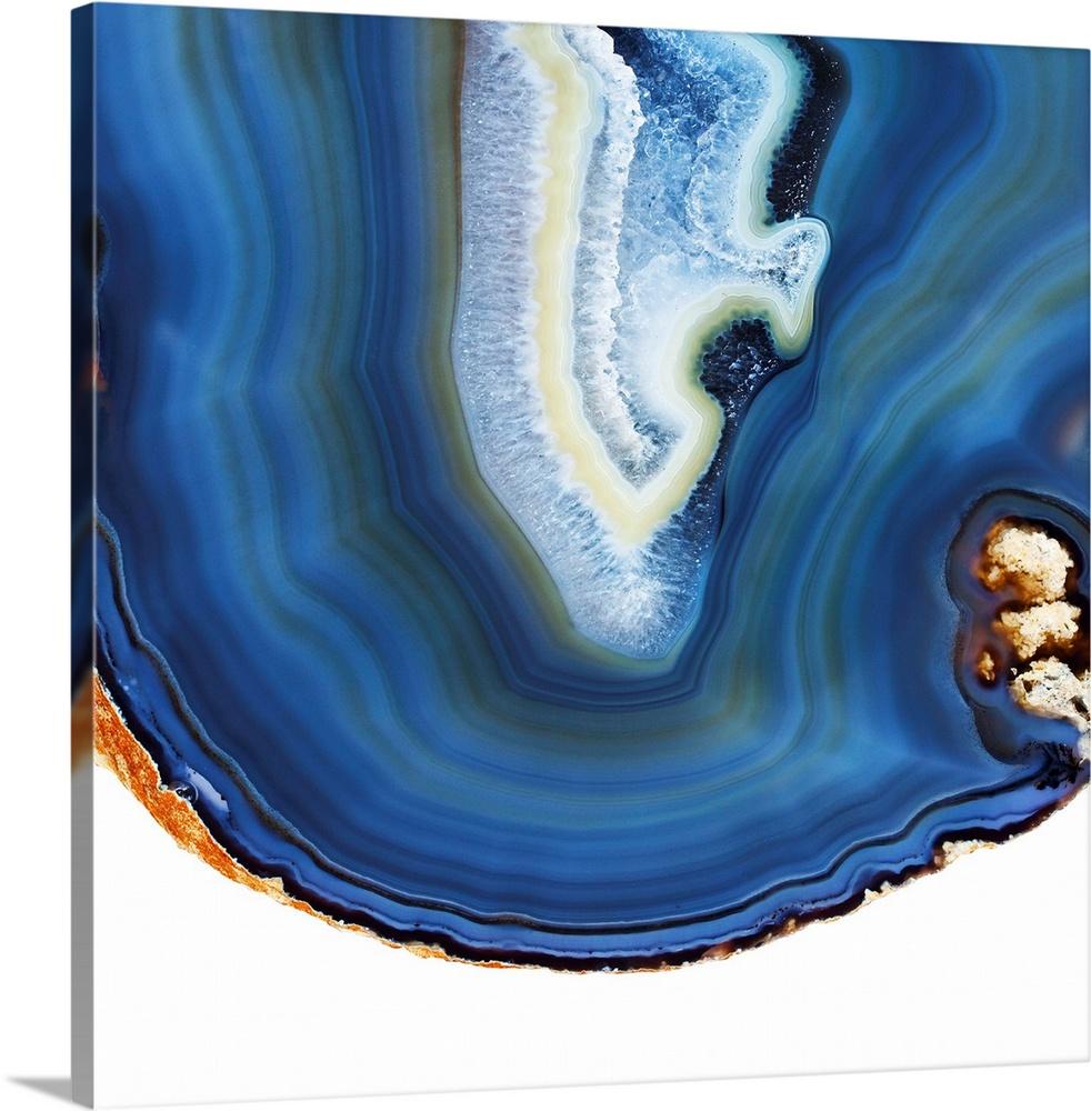 Cobalt Blue Agate I Wall Art Canvas Prints Framed Prints Wall Peels Great Big Canvas