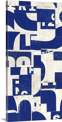 Collaged Letters Blue F