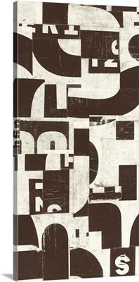 Collaged Letters Cocoa VI