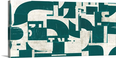 Collaged Letters Dark Green A