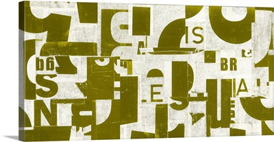 Collaged Letters Gold I