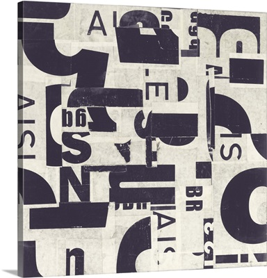 Collaged Letters Purple C