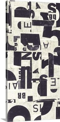 Collaged Letters Purple E