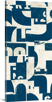 Collaged Letters Teal F